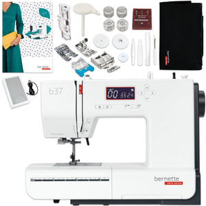 Bernette B37 Computerized Sewing Machine Bundle w/ 5 Pressure Feet Brother Sewing Bundle Bernette
