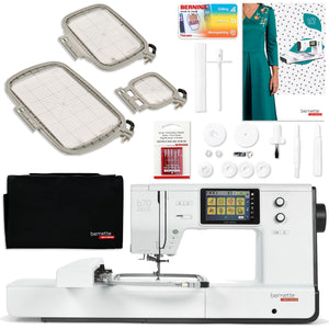 "Bernette B70 Deco 10"" x 6"" Embroidery Machine Bundle with $598 Software Package Brother Sewing Bundle Bernette"