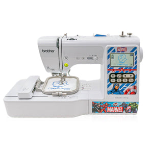 "Brother LB000M Sewing & Embroidery Marvel Comic Edition 4"" x 4"" Brother Sewing Bundle Brother"