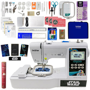 Brother LB5000S Embroidery Star Wars Machine w/ Embroidery Bundle Brother Sewing Bundle Brother