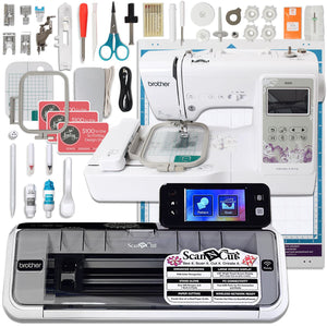 Brother ScanNCut 2 Wireless Bundle w/ Brother SE600 Embroidery Machine Brother Sewing Bundle Brother