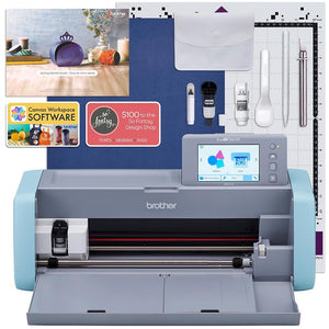 Brother ScanNCut DX125e Wireless Machine Deluxe Vinyl & HTV Bundle Brother ScanNCut Bundle Brother