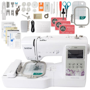 "Brother SE600 Sewing & Embroidery Machine w/ 4"" x 4"" Embroidery Area Brother Sewing Bundle Brother"