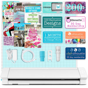 "Copy of Silhouette Cameo 4 PRO - 24"" w/ 64 Sheets Oracal Vinyl, Tools, Guides Silhouette Bundle Silhouette"