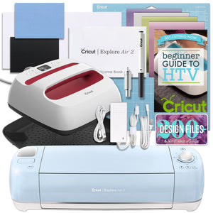 Cricut Blue Explore Air 2 and EasyPress Bundle Cricut Bundle Cricut