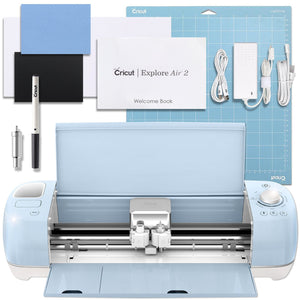 Cricut Blue Explore Air 2 Deluxe Vinyl And Heat Transfer Vinyl Bundle Cricut Bundle Cricut