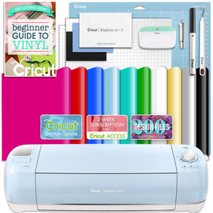 Cricut Blue Explore Air 2 Vinyl Bundle Cricut Bundle Cricut