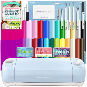 Cricut Blue Explore Air 2 Vinyl Bundle With 26 Sheets Of Vinyl and More! Cricut Bundle Cricut
