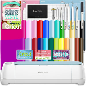 Cricut Blue Maker Deluxe Vinyl Bundle Cricut Bundle Cricut