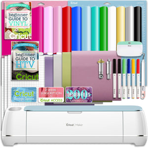 Cricut Blue Maker Vinyl and Heat Transfer Bundle - Swing Design