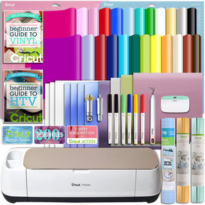 Cricut Champagne Maker Deluxe Vinyl and Heat Transfer Bundle - Swing Design