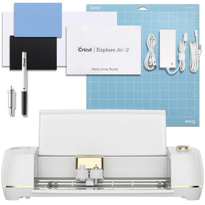 Cricut Daybreak White & Gold Explore Air 2 Cutting Machine - Swing Design