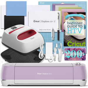 "Cricut Lilac Explore Air 2 and EasyPress Bundle Cricut Bundle Cricut 6"" x 7"" EasyPress 2"
