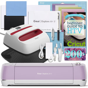 "Cricut Lilac Explore Air 2 and EasyPress Bundle Cricut Bundle Cricut 9"" x 9"" EasyPress 2"