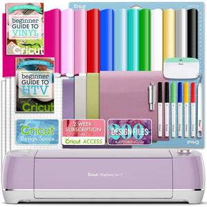 Cricut Lilac Explore Air 2 Vinyl And Heat Transfer Vinyl Bundle - Swing Design