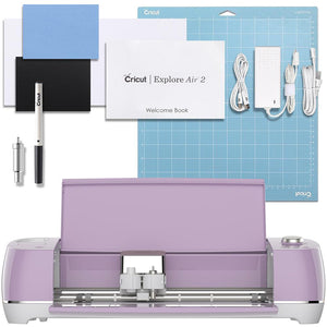 Cricut Lilac Explore Air 2 Vinyl Bundle With 26 Sheets Of Vinyl and More! - Swing Design