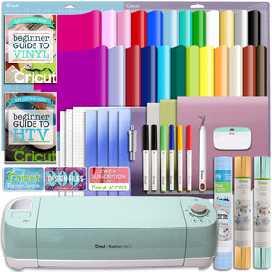 Cricut Mint Explore Air 2 Deluxe Vinyl And Heat Transfer Vinyl Bundle - Swing Design