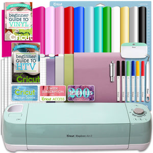 Cricut Mint Explore Air 2 Vinyl And Heat Transfer Vinyl Bundle - Swing Design