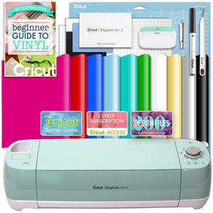 Cricut Mint Explore Air 2 Vinyl Bundle - Swing Design
