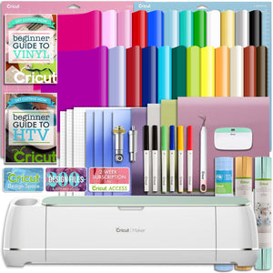 Cricut Mint Maker Deluxe Vinyl and Heat Transfer Bundle - Swing Design