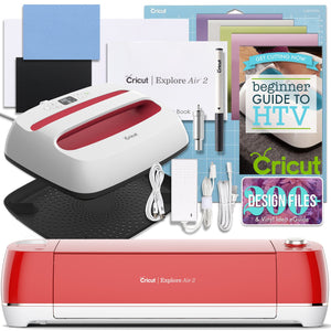 "Cricut Red Explore Air 2 and EasyPress Bundle Cricut Bundle Cricut 12"" x 10"" EasyPress 2"