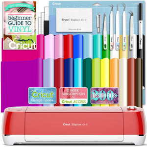 Cricut Red Explore Air 2 Vinyl Bundle With 26 Sheets Of Vinyl and More! Cricut Bundle Cricut