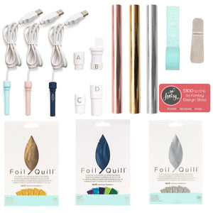 Foil Quill All-In-One Bundle, 3 Foil Sets, 3 Quills, Adapters, Rolls, Tape, Design Card - Swing Design