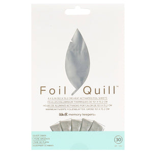 "Foil Quill Foil Pack - Silver 4"" x 6"" - 30 Pack - Swing Design"