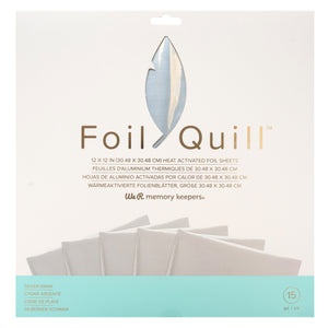 "Foil Quill Foil Pack - Silver Swan 12"" x 12"" - 15 Pack - Swing Design"