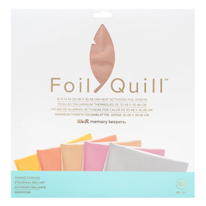 "Foil Quill Foil Pack - Starling 12"" x 12"" - 15 Pack - Swing Design"