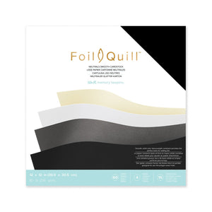 "Foil Quill Neutrals Cardstock 12"" x 12"" - 60 Pack - Swing Design"