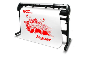 "GCC Jaguar V LX 40"" Pro Vinyl Cutter With Stand & Aligning System for Contour Cutting - Swing Design"