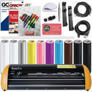"GCC Professional Expert II 24"" Wide LX Vinyl Cutter With Aligning System for Contour Cutting Creative Bundle - Swing Design"
