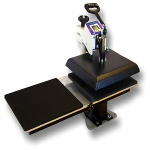 Geo Knight DC Digital Combo Swing Away Heat Press - Twin Shuttle Attachment - Swing Design
