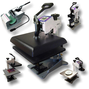 "Geo Knight DC16 Digital Combo Swing Away Heat Press Bundle - 14"" x 16"" - Swing Design"