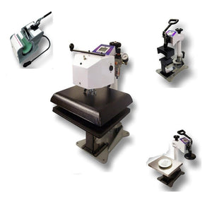 "Geo Knight DC16AP Automatic Digital Combo Swing Away Heat Press Bundle - 14"" x 16"" - Swing Design"