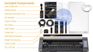 "Graphtec CE-50 LITE - 20"" Vinyl Cutter & Plotter with BONUS Software - Swing Design"