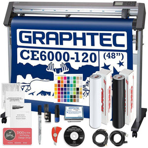 "Graphtec CE6000-120 PLUS - 48"" Professional Vinyl Cutter & Plotter Bundle with BONUS Software - Swing Design"