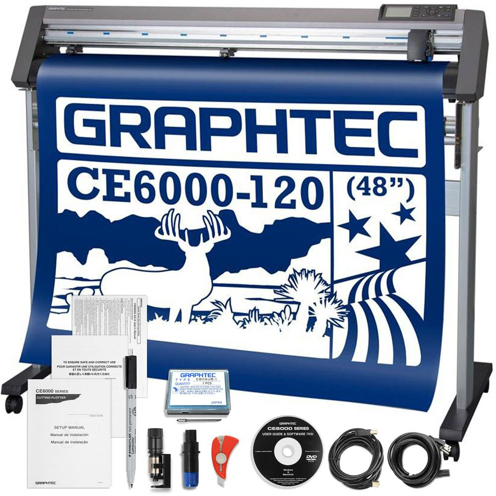 Graphtec Ce6000 120 Plus Vinyl Cutter W Software Swing
