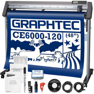 Graphtec CE6000-120 PLUS - 48 Inch Professional Vinyl Cutter & Plotter with BONUS Software Graphtec Bundle Graphtec