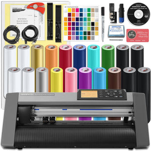 Graphtec CE6000-40 PLUS - 15 Inch Desktop Vinyl Cutter with Oracal Vinyl with BONUS Software Graphtec Bundle Graphtec