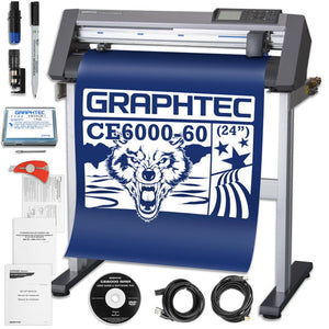 Graphtec CE6000-60 PLUS - 24 Inch Professional Vinyl Cutter & Plotter with BONUS Software Graphtec Bundle Graphtec