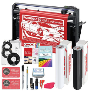 "Graphtec FC8600-130 54"" Vinyl Cutter with BONUS Software, Starter Bundle & 3 Year Warranty - Swing Design"