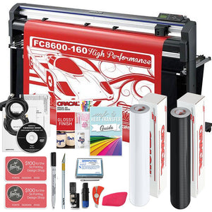 "Graphtec FC8600-160 64"" Vinyl Cutter with BONUS Software, Starter Bundle & 3 Year Warranty - Swing Design"