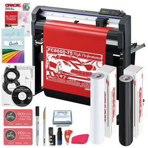 "Graphtec FC8600-75 30"" Vinyl Cutter with BONUS Software, Starter Bundle & 3 Year Warranty - Swing Design"