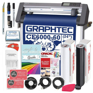 Graphtec PLUS CE6000-60 24 Inch Professional Vinyl Cutter with BONUS Software, 2 Year Warranty Graphtec Bundle Graphtec