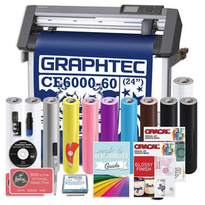 Graphtec PLUS CE6000-60 24 Inch Vinyl Cutter with BONUS Software , 2 Year Warranty Graphtec Bundle Graphtec