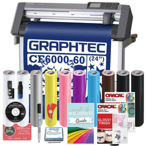 "Graphtec PLUS CE6000-60 24"" Vinyl Cutter with BONUS Software , 2 Year Warranty - Swing Design"