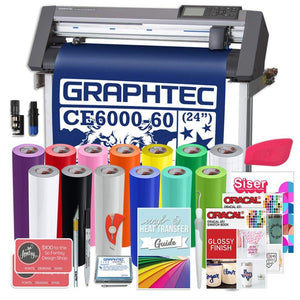 Graphtec PLUS Deluxe CE6000-60 24 Inch Vinyl Cutter with BONUS Software, 2 Year Warranty Graphtec Bundle Graphtec