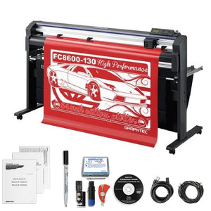 "Graphtec Professional FC8600-130 54"" Vinyl Cutter with with BONUS Software & 3 Year Warranty - Swing Design"